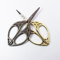 Wholesale ZAKKA cross stitch European Retro classic Vintage Antique Craft Leaf Stainless Steel Sewing Tailor scissor handicraft DIY Tool