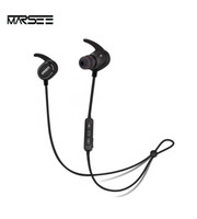 Wholesale Earphones Run - Marsee wireless bluetooth earphones headset in-ear headphones sweatproof sport running jogging with bluetooth 4.1, aptX Stereo Pure Sound