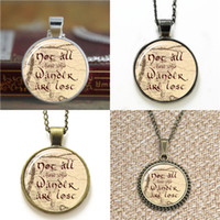 Wholesale map middle - 10pcs Lord of the Not all who wander are lost on middle earth map pendant Glass Necklace keyring bookmark cufflink earring bracelet