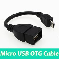 Wholesale Otg Connection - Hot selling android mobile micro usb to OTG data V3 V8 usb cable U disk cable Car connection cable