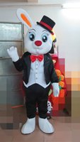 Wholesale High Quality Rabbit Costume - Bunny Mascot One Ear Rabbit Costume Fancy Birthday Party Dress Halloween Carnivals Costumes With High Quality Free Shipping