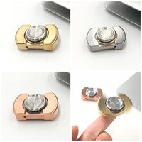 Wholesale Eva Balls - Stainless Steel Spiral Spinnings Top Torqbar Red Brass Hand Spinner Ceramic Ball Bearing Fidget Spinners EDC Finger Toys Silvery 35cm B
