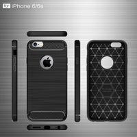 iphone6 kılıfı fırçalanmış toptan satış-Apple iphone6 için cep telefonu kılıfları 6 s 6 artı 6 splus tpu karbon fiber iphone6 için fırçalanmış ince case 6 s 6 artı 6 splus telefon kapak 2017 sıcak