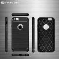 ingrosso caso iphone6 spazzolato-CellPhone Custodie per Apple Iphone6 6s 6plus 6 splus TPU in fibra di carbonio sottile custodia per iphone6 6s 6plus 6 splus copertura del telefono 2017 hot