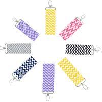 çanta fobları toptan satış-Chevron Ruj Chapstick Tutucu Anahtarlık Dudak Çanta Renkler Monogram Çok Chevron Anahtar FOB Dudak Palm Tutucu Ücretsiz kargo