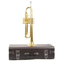 Wholesale new trumpet mouthpiece - wholesale New Musical Instruments Trumpet Bb B Flat Brass Exquisite with Mouthpiece Gloves Trumpet Free Shipping