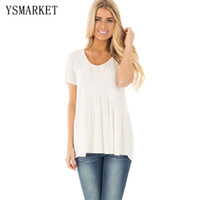Wholesale Clothes For Womens Maternity - 2017 Maternity For Womens Solid T-Shirt Casual Long Sleeve O Neck Short TShirt Clothing American Apparel Tee Shirts Tops E250022