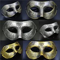Wholesale Christmas Festive Masks - Men's Masquerade Mask Fancy Dress Venetian Masks Hot Sale Festive Party Supplies Mardi Gras Marks Wedding Dance Wear DHL Shipping