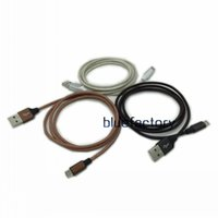 Wholesale cell phone charger wire - Braided Aluminium Metal Nylon Cable 1M 3FT Micro USB Wire USB Charger Sync Data Cord For Samsung S7 S6 edge LG HTC Cell phone Universal