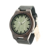 Wholesale Vintage Friends Watch - BOBO BIRD B14 Vintage Wooden Watches Fasgion Style Wristwatch for Men Green Dial Face Will be Best Gift for Friends