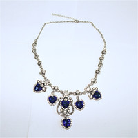 Wholesale Gold Does Fade - And the wind ancient Silver Crystal Heart Pendant Necklace with diamond female allergy does not fade jewelry wholesale price