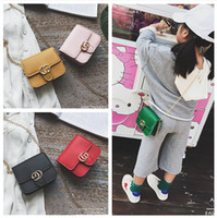Wholesale Newest Baby Toddler - Newest Fashion Kid Messenger Bags Stylish Baby Handbag Toddler Chain Purse Child Designer Bag Baby Products Mini Bags Girl CM086