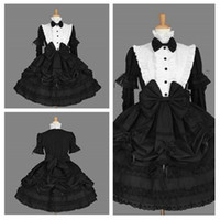 Wholesale Vintage Little Girl Photo - Free Shipping High Quality Bow Stand Collar Lace Ruffles Pick-ups Evening Gown Gorgeous Noble Elegant Girls Short Prom Dresses 2018 Real Pho