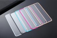 projetos de vidro de papel venda por atacado-Ultra-Thin 3D Curvo Borda Titanium Alloy Design Protetor de Tela de Vidro Temperado Cobertura Completa Para iphone7 / 7 / plus / 6/6 plus / 5 / 5s w pacote de papel