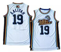 NEW Aaliyah Jersey # 19 Bricklayers Throwback Jerseys 1996-97 MTV Rock N 'Jock Movie Uomini cuciti magliette da basket economici Viva Villa