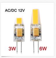 Wholesale G4 Led 12v Dimmable - G4 12V COB LED Bulb 3W 6W LED G4 COB Light Lamp for Crystal Chandelier G4 LED Lights Lamps Dimmable