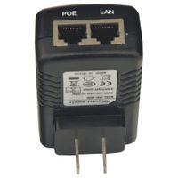 Wholesale Poe 48 - High Quality PoE-4805 PoE-241 PoE-2405 48 24V 0.5A 1A Adapter Converter US Plug POE Switch Ethernet Adapter Black