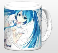 Wholesale White Miku - Wholesale- New The Disappearance of Hatsune Miku Ceramic Coffee Mug White Color Or Color Changed Cup
