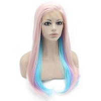 фиолетовый синий парик микс оптовых-24