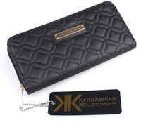 Wholesale American Grade - Fashion KK Wallet Long Design Women PU Leather Kardashian Kollection High Grade Clutch Bag Zipper Coin Purse Handbag
