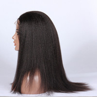 médias italiens achat en gros de-Front Lace Wigs Italian Yaki Textures Large Small Medium Size Cap Stocked Best Selling Indian Hair Lace Wigs Stocked