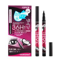 Wholesale Magic Color Make Up - YANQINA Fashion make up waterproof gel 36h eyeliner pencil Water-Resistant Easy to Wear Magic Eyeliner Pencil