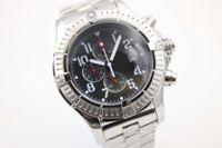 Wholesale 48mm Mens Watches - christmas gift AAA luxury brand watches men 48mm super avenger II watch chronograph quartz movement watch mens dress watches