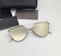 Wholesale Vintage Punch - Korea Bigbang high quality brand sunglasses oculos Love Vintage Gentle Men Women Luxury Brand With V Logo Punch Sunglasses with box