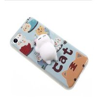 Wholesale 3d Animals Phone Covers - Lovely 3D Animals Seal Sea Lion Phone Cases For Iphone 6 6s 7 8 Plus Cartoon Polar Bears Stripe Cat Soft TPU Back Cover OPP BAG