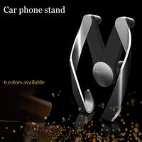 materiais para suportes móveis venda por atacado-M tipo de suporte móvel do carro do telefone do respiradouro para o suporte ajustável do telefone do carro da tomada de ar do material ABS do ABS de Samsung do iPhone