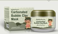 Wholesale Masks Shops - BIOAQUA pig carbonated bubble clay Mask 100g remove black head acne Shrink pores face care facial sleep mask Free shopping