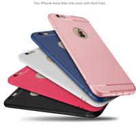 iphone 5s jöle durumlarda toptan satış-Iphone 7 için Donuk Lehçe Katı Durumda Ultra Ince Paspas Taşlama Kılıfları TPU Silikon Jöle Şeker Mat Kapak Kılıf iphone 6 6 s 7 artı 5 s SE