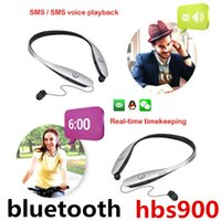 Wholesale Cheaper Bluetooth Headphones - 2017 hot new HBS 900 cheap bluetooth headset HBS 800 sports telescopic headphones for the Iphone samsung huawei retail box free shipping