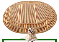Wholesale Cat Beds Accessories - Summer Sleeping Mat Puppy Cushion Bamboo Weaving Kennel The Cat Cage Villa pet bed dog cat houses Free Shipping