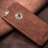 Wholesale Bar Skin - Luxury Back Case for iPhone6 plus,Calf Skin Leather Back Cover for iPhone6S plus Utra Slim Phone Case