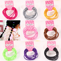 Wholesale Children Mini Hair Band - 80pcs Hot Sale Candy Colors Girls Mini Strong Scrunchy Elastic Hair Bands Children Rubber Bands Hair Loops Kids Basic Hair Accessories