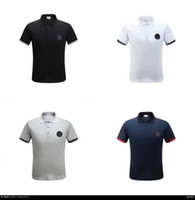 Wholesale M1724 hot Luxury Mens Mon polo Brand British t shirt Summer short sleeve tshirt marque luxe homme Franch men Costume cotton plus sizes m xxl