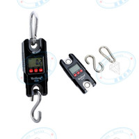 Wholesale crane electronics for sale - Group buy Mini Portable Crane Scale kg kg LCD Display Digital Electronic Hook Hanging Scale with White Backlight Black color