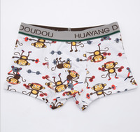 Wholesale Monkey Panties - free ship hot sales children comfortable panties children underwear cotton boxers with monkey printing for 2~10 years old boy 12pcs a lot