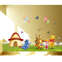 Wholesale Winnie Pooh Sticker Wallpaper - Winnie the Pooh Friends Wall Stickers For Kids Rooms, Wall Decorative Sticker Removable PVC Wall Decal Wallpaper (Large Size)