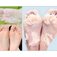 Wholesale 2packs baby foot mask peeling foot care renewal mask remove dead skin cuticles heel socks for pedicure