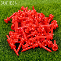 Wholesale Golf Balls Tees Wholesale - Wholesale- SURIEEN 1Pack (100Pcs) 41mm Plastic Step Down Golf Tees Graduated Castle Tee Height Control Golf Club Training Ball Holder Tees