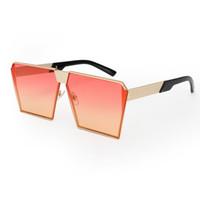 Wholesale Eyeglass Frames For Girls - ROYAL GIRL 2017 New Color Women Sunglasses Unique Oversize Shield UV400 Gradient Vintage eyeglasses frames for Women ss953