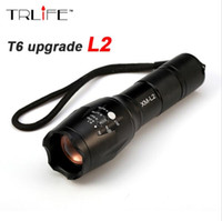 E17 CREE XM-L2 8000LM Tactical cree Led Torch Zoom cree LED Flashlight Torch light Pour 3xAAA ou 1x 18650 Rechargeable
