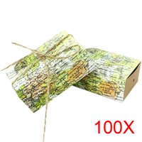 Wholesale 100pcs Around the World Map Favor Boxes for Traveling Theme Wedding Decoration Gift Kraft Party Candy Box Sale HG99