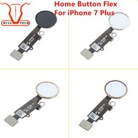 Wholesale Wholesale Bar Keys - For iPhone 7 Plus Home Button Menu Flex Key Cap Full Assembly Replacement Spare Part Golden Black Rose Gold Silver for apple 7p