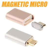 Wholesale Magnetic Charging Adapter Micro Metal Head High Speed Charger For Android Samsung HTC SONY