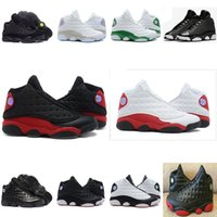 Wholesale Basketball Shoes Best Price - New Mens womens Basketball Shoes Air Retro 13 Bred Black cat True Red Discount Sports Shoe Athletic Running shoes Best price Sneakers