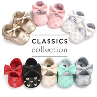 Wholesale Baby Boy Moccasins - Wholesale- Baby Moccasins Baby First Walkers Soft Bottom Butterfly-knot Baby Shoes Prewalkers Boots for 0-18M Babies