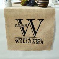 Wholesale Personalized Wedding Runner - Wholesale-Personalized Table Runner-Rustic Wedding Decor Burlap Table Runner Custom Linens - Wedding Gift